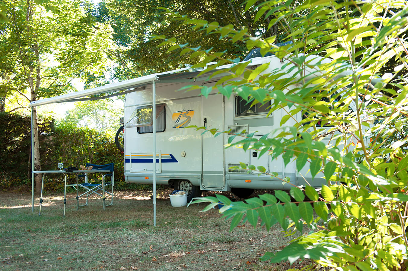 camping pitch dordogne