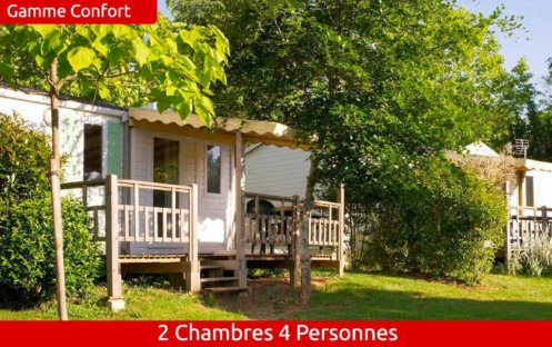 mobil-home confort 2 chambres 4 personnes